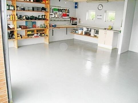 Renovering af værksted - epoxy gulve